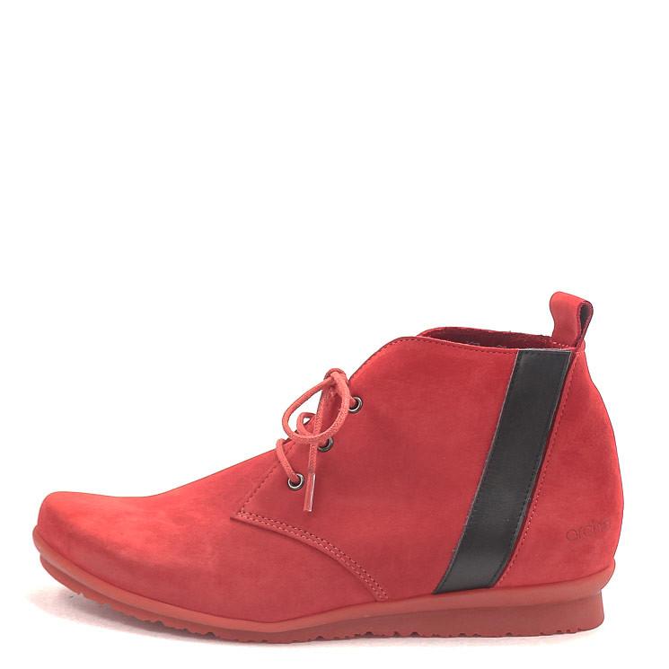 Arche Barrez Damen Stiefelette rot-schwarz