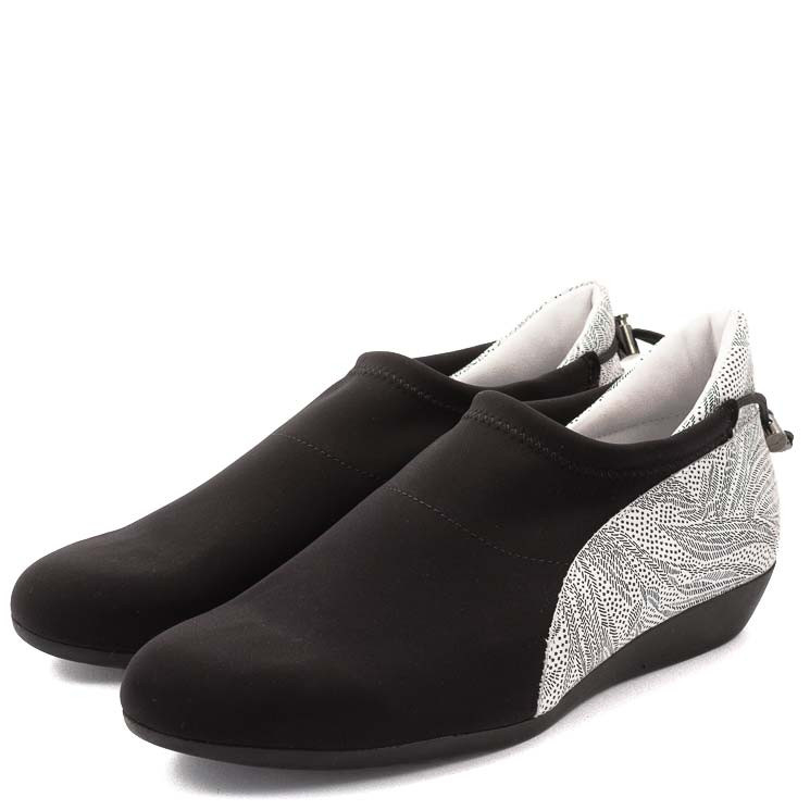 Arche Onyx Damen Slipper schwarz-weiß