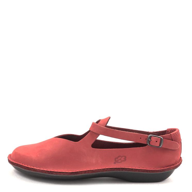 Loints of Holland 39183 Turbo Tiengeboden Damen Ballerina rot