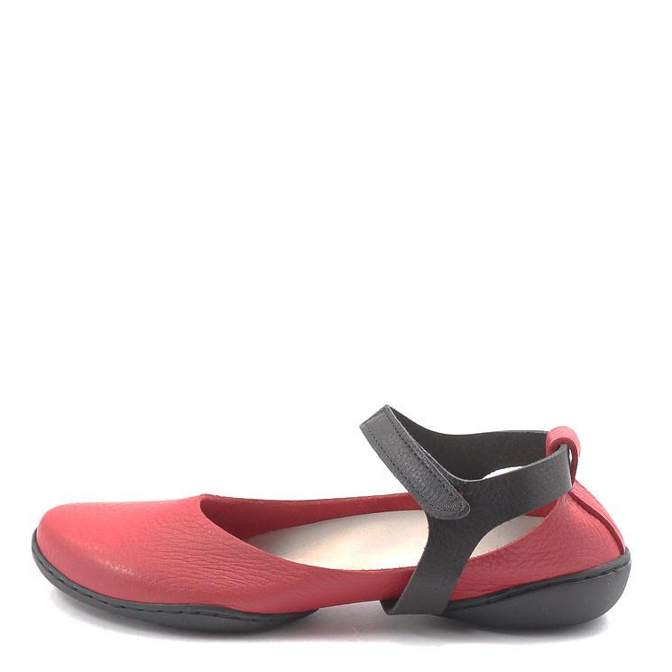 Trippen Lyric f Cup Ballerina rot-schwarz