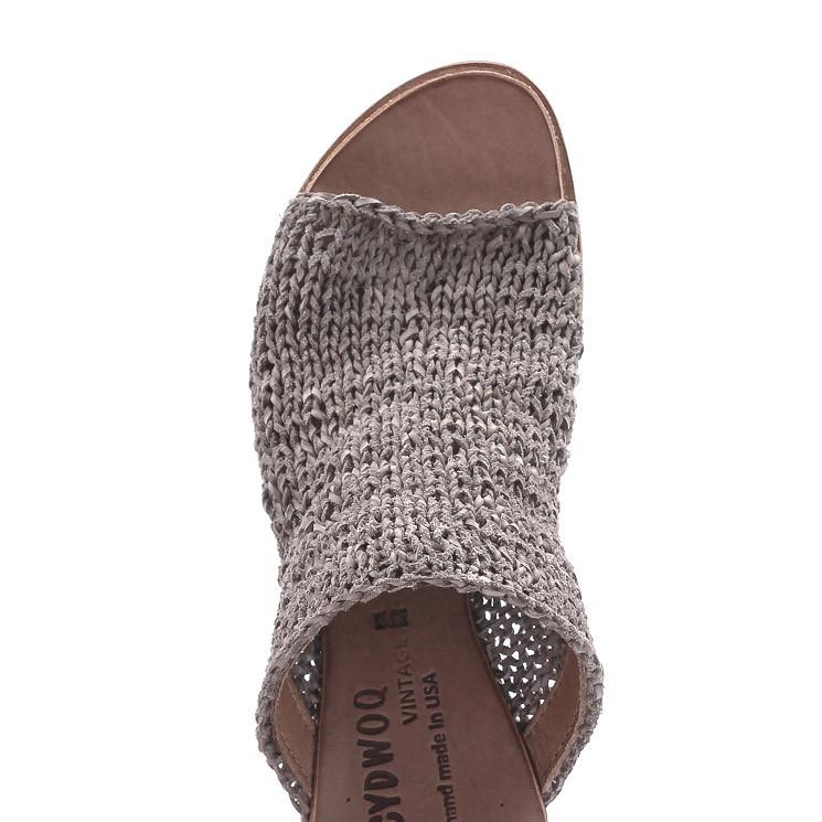 CYDWOQ Asia Damen-Sandale grau