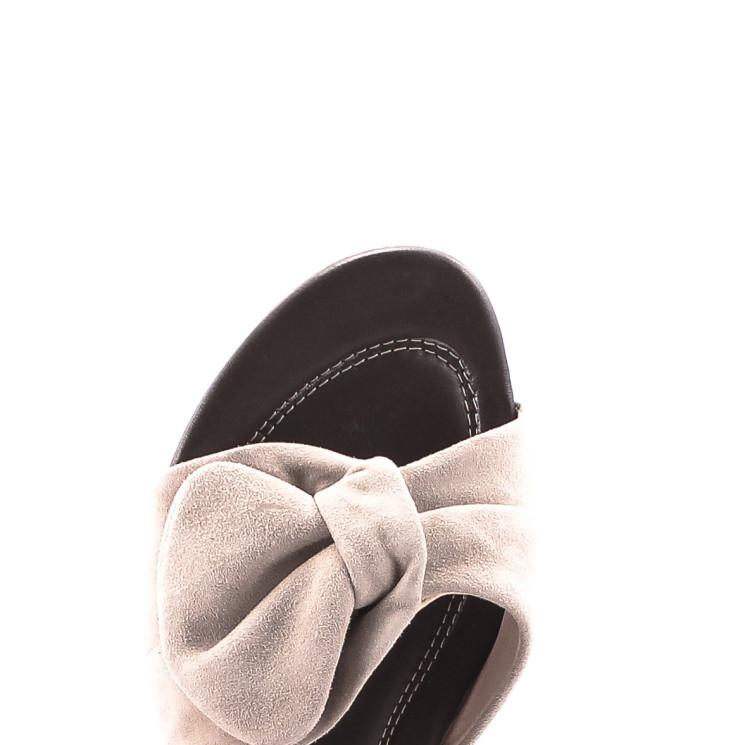 Think Bussal 82516 Damen Pantolette kalk