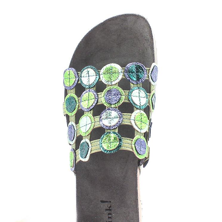 Think 86337 Julia Damen Pantolette grün