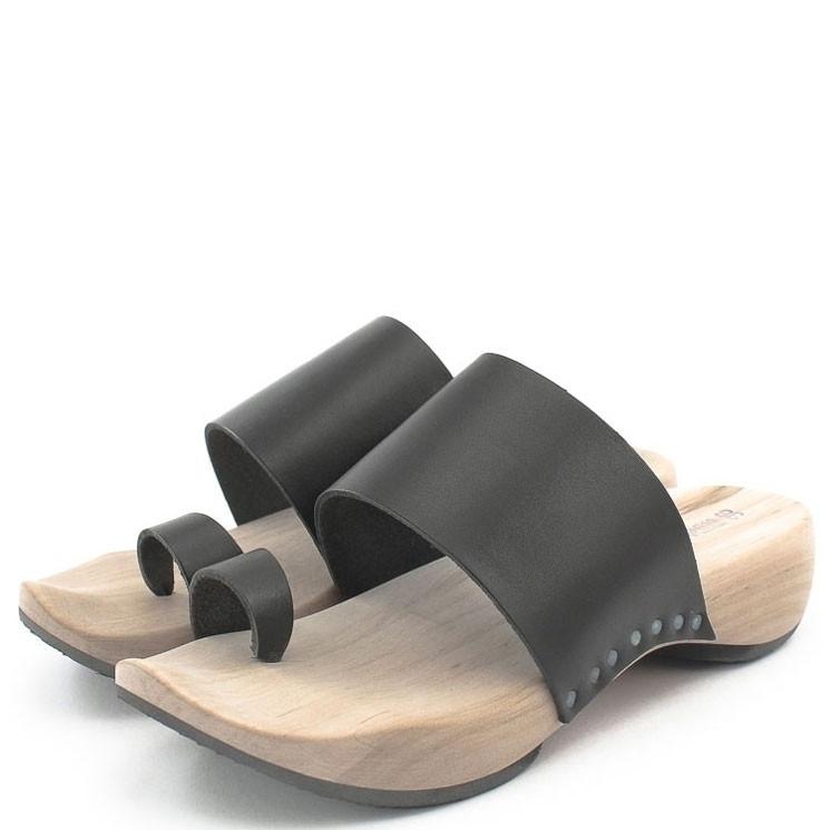 Trippen Zen f Holz Damen Pantolette schwarz