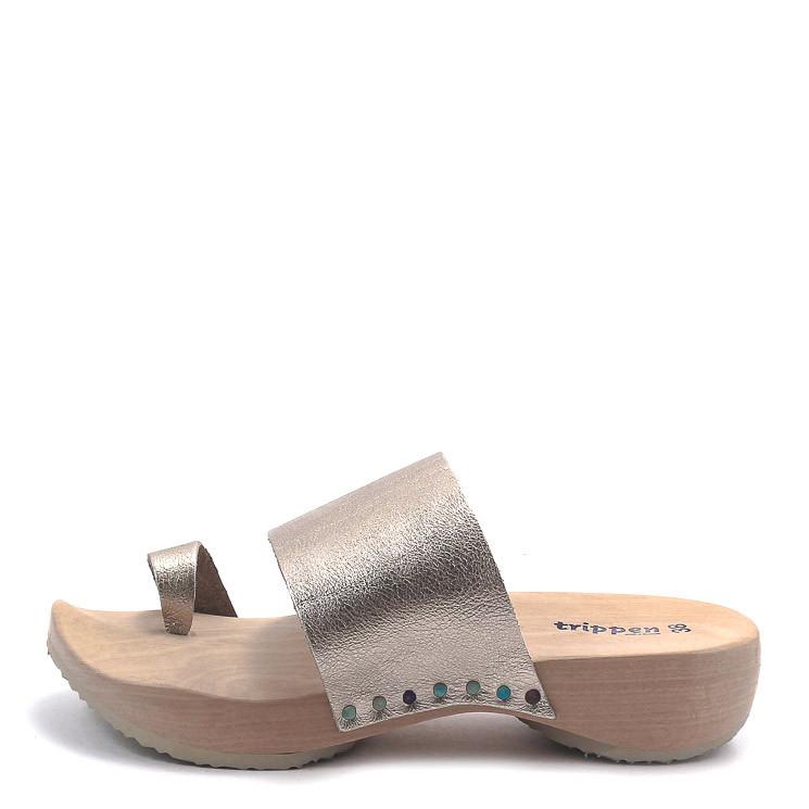 Trippen Zen f Holz Damen Pantolette metall