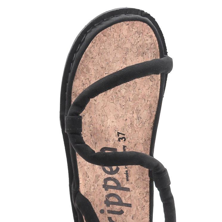 Trippen Zigzag f vegan Damen Sandale schwarz
