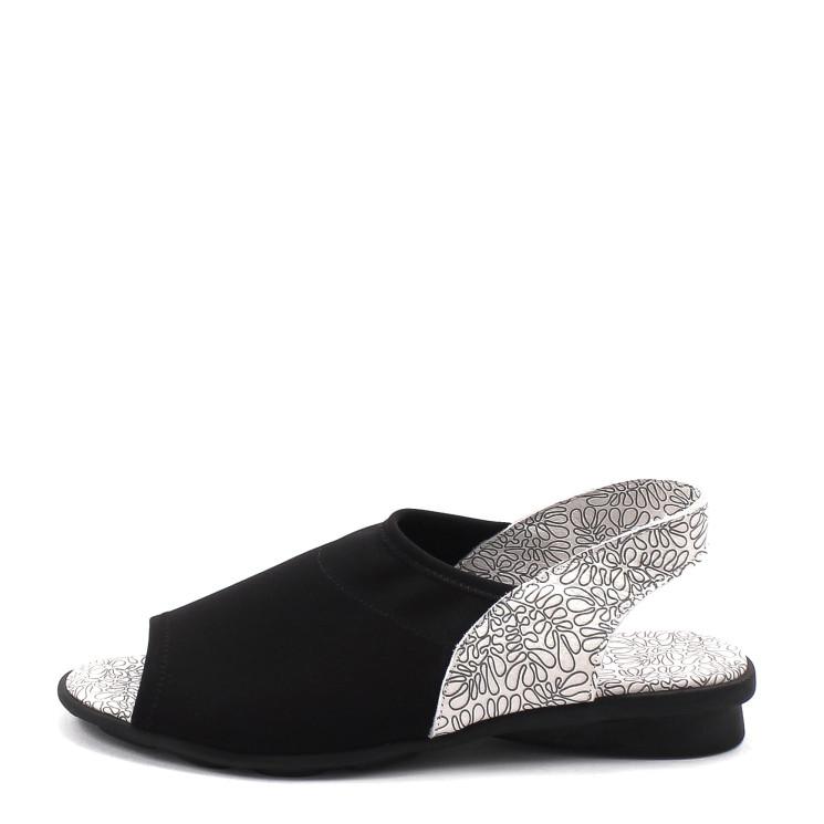 Arche Dajac Damen Sandale schwarz-weiß