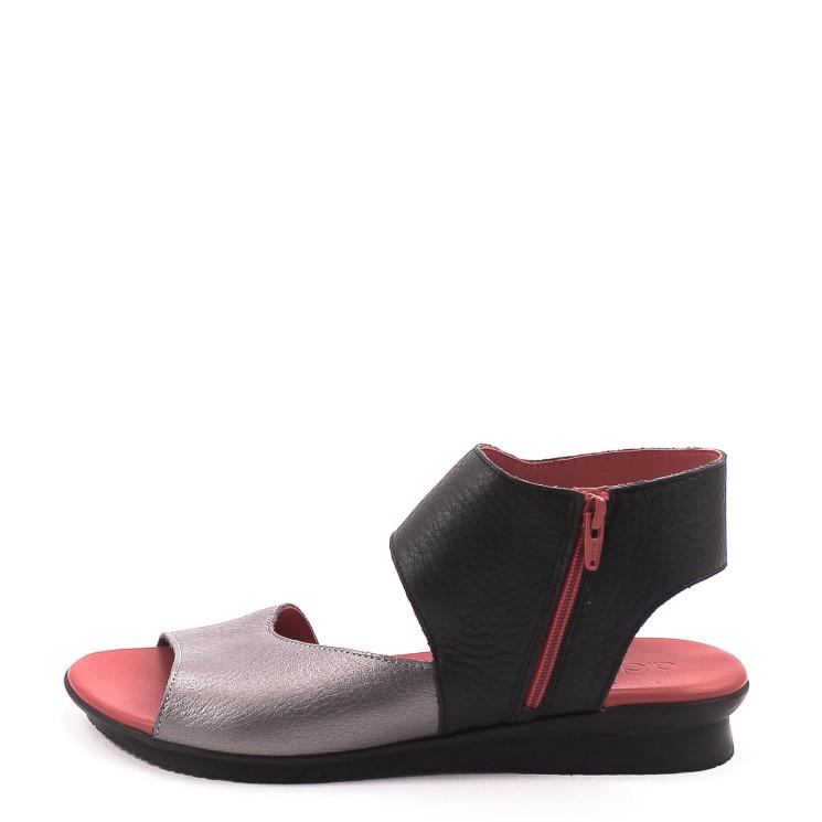 Arche Aurock Damen Sandale schwarz-rot