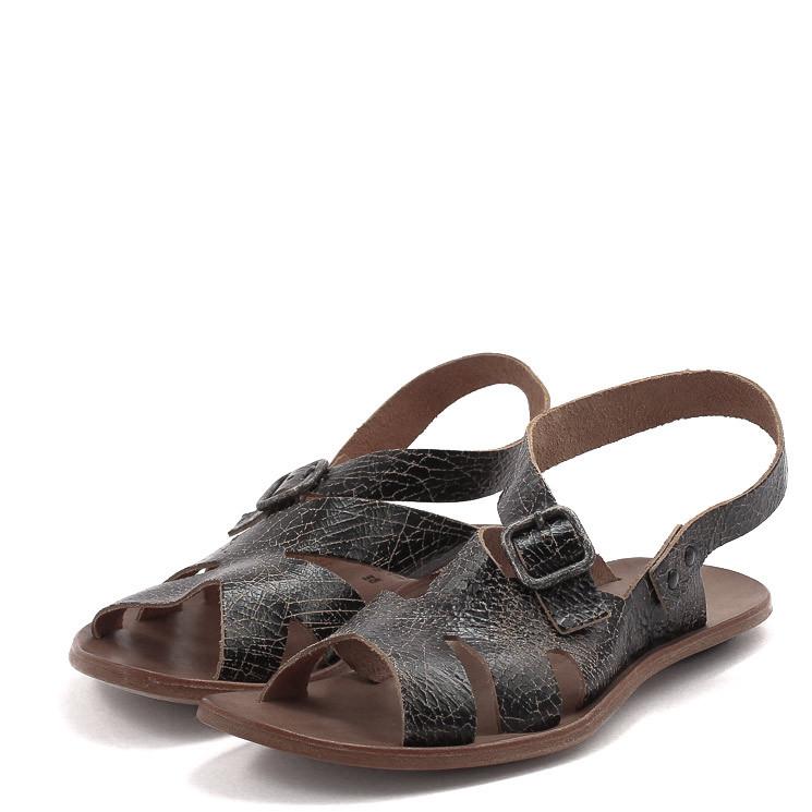 CYDWOQ Cavalry Damen-Sandale schwarz-braun