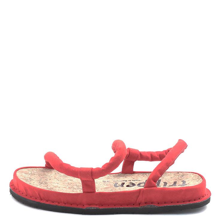 Trippen Zigzag f vegan Damen Sandale rot