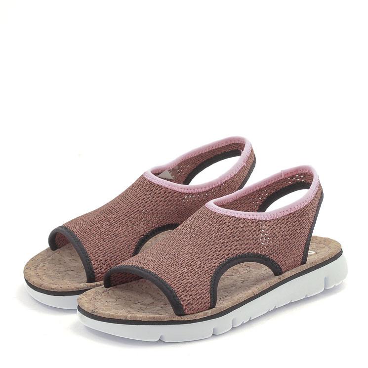 Camper Damen-Sandale K200360 dunkelrot