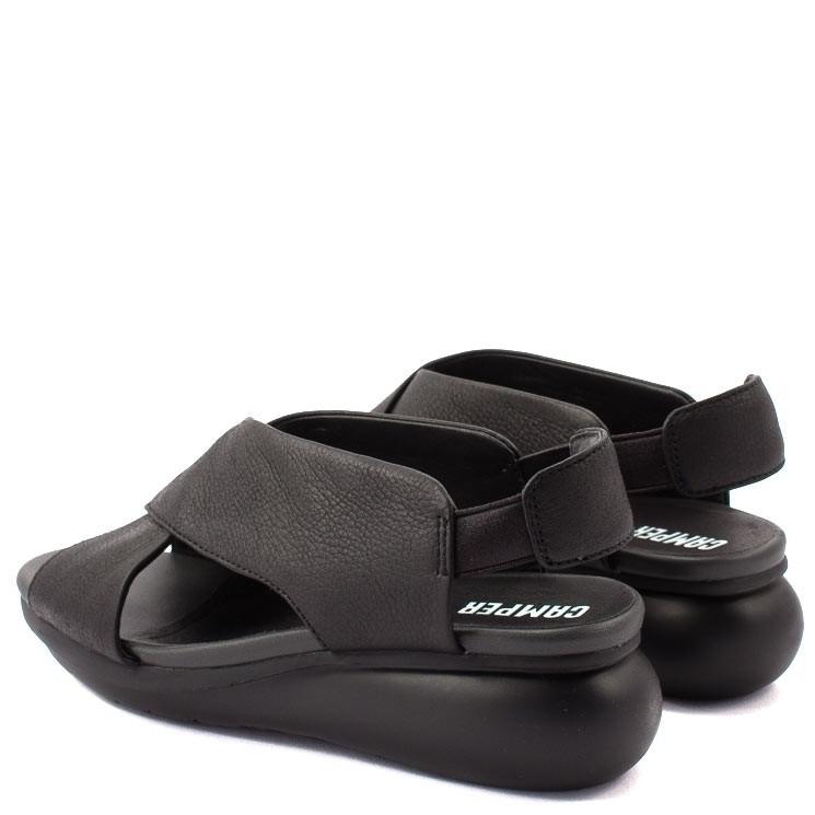 Camper Keilabsatz-Sandale K200066 schwarz