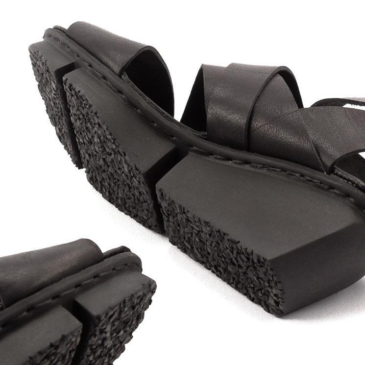 Trippen Film Splitt Damen-Sandale schwarz