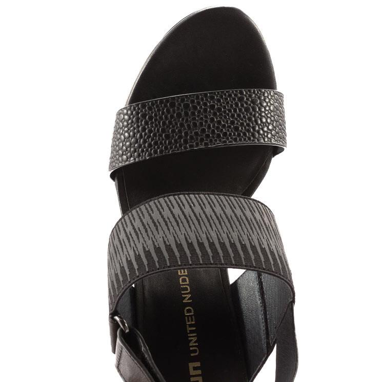 United Nude Zink Slingback Sandale schwarz