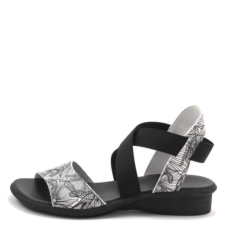 Arche Satia Damen Sandale schwarz-weiß