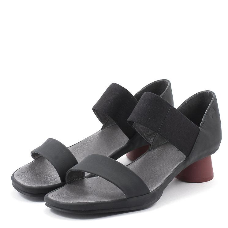 Camper K200770 Alright Damen Sandale schwarz-rot