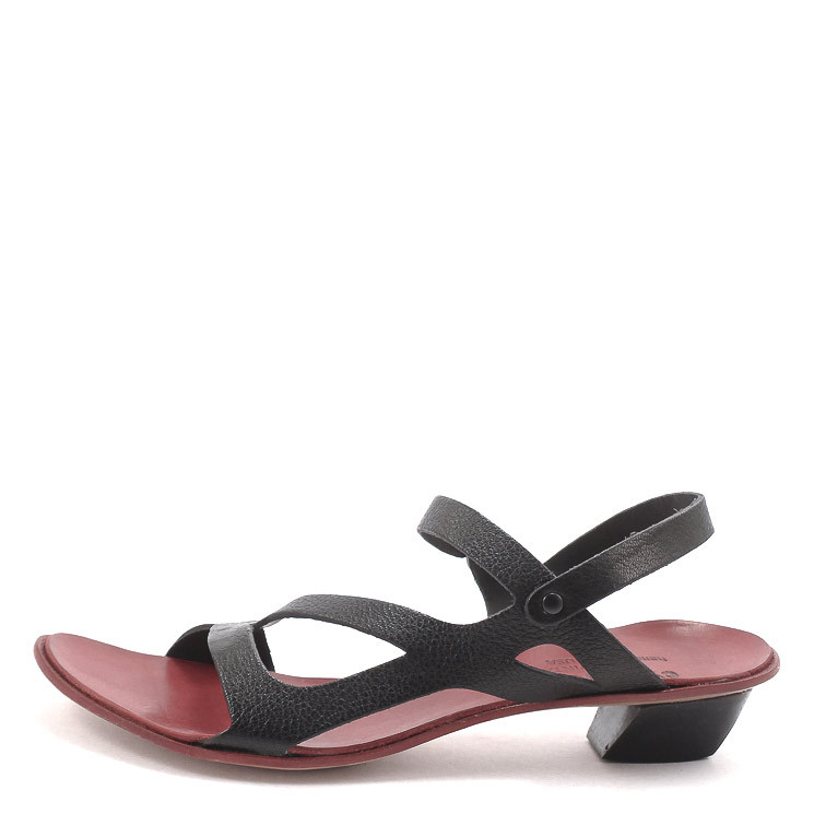 CYDWOQ Brief Damen-Sandale schwarz-rot