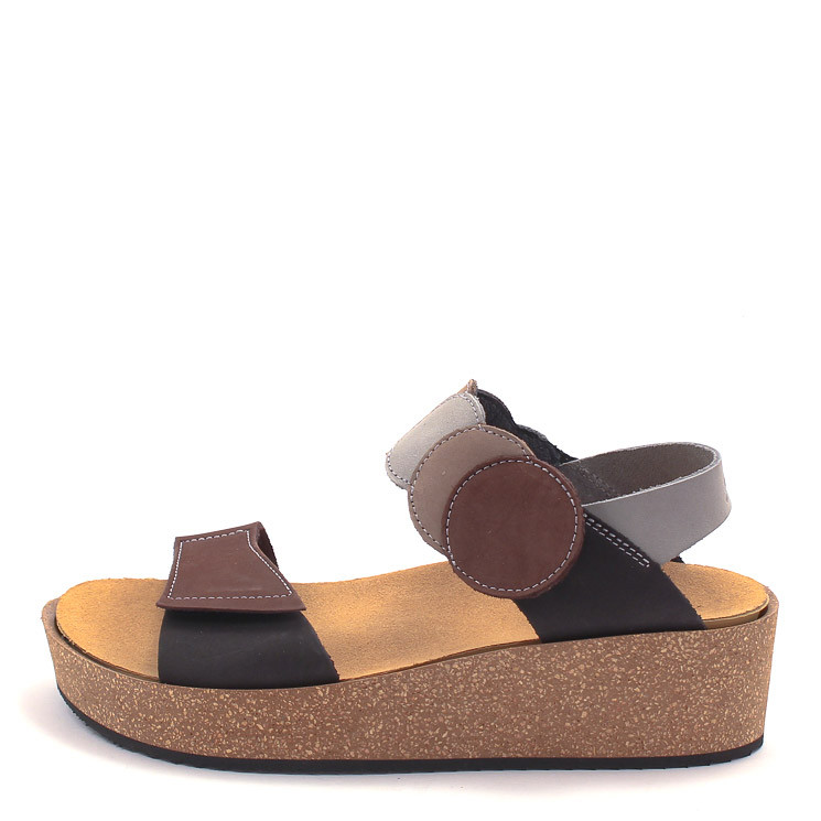 Loints of Holland 71942 Samba Damen Sandale schwarz-braun