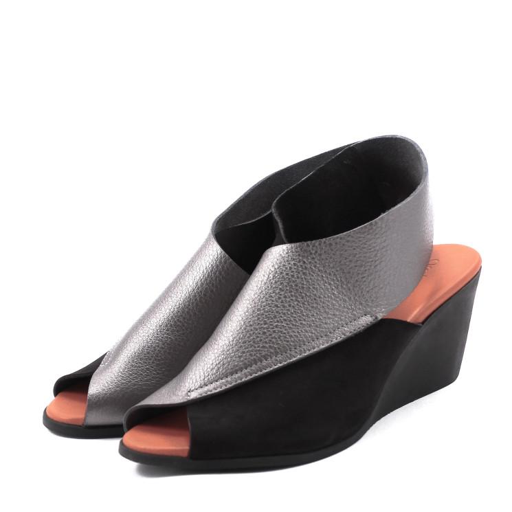 Arche Egwest Damen Sandale schwarz-kupfer