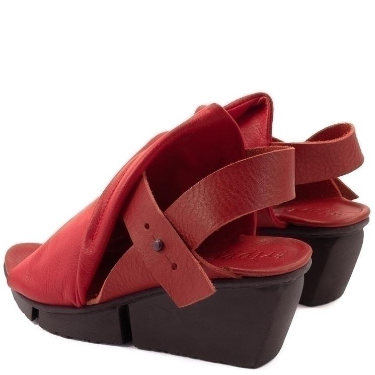Trippen Rail Splitt Damen-Sandale rot