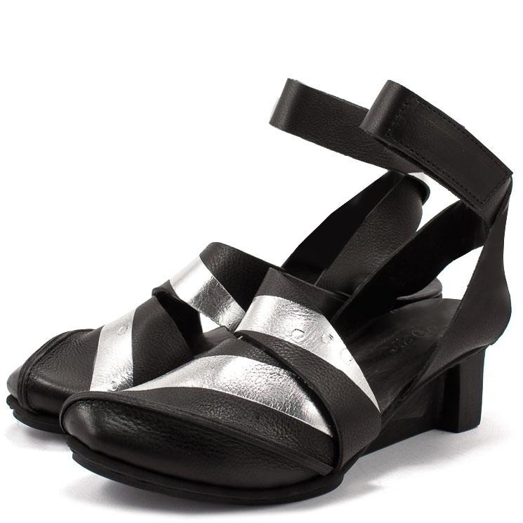 Trippen Strict x+os Damen-Sandale schwarz-grau