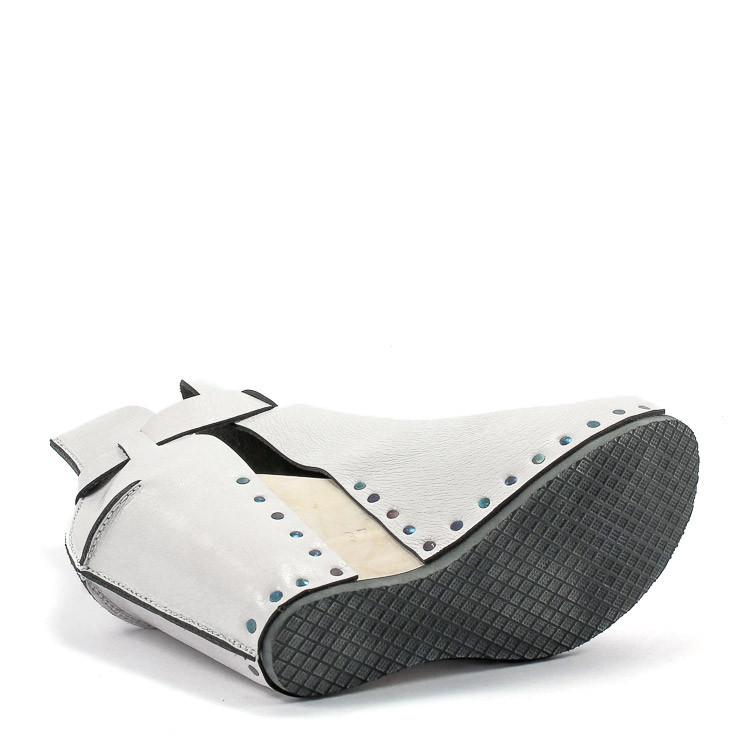Trippen Stasis Holz Damen Sandale weiß