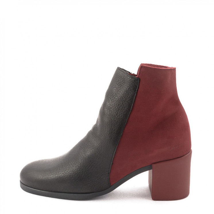 Arche Angaya Damen Stiefelette schwarz-rot