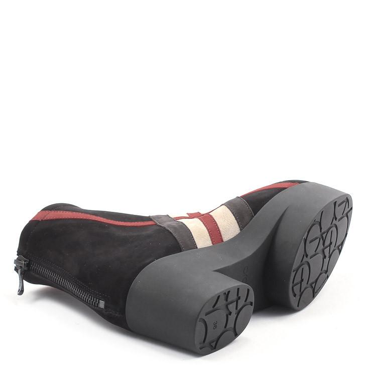 Arche Six007 Damen Stiefelette schwarz-rot