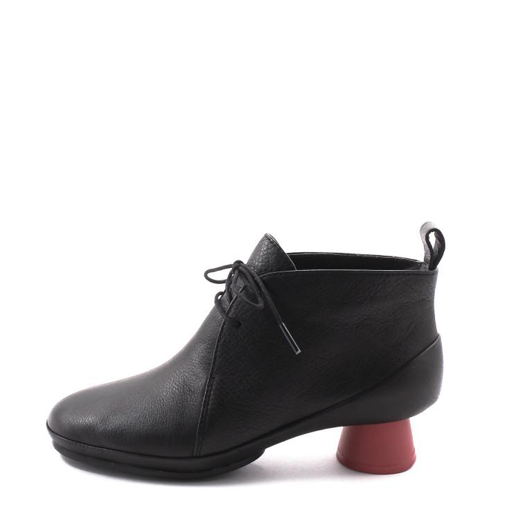 Camper K400394 Alright Damen Stiefelette schwarz-rot