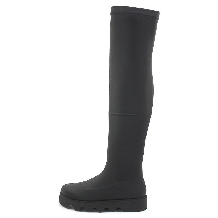 ISSEY Miyake Bounce Long Fit Boot Damen Overknee-Stiefel schwarz