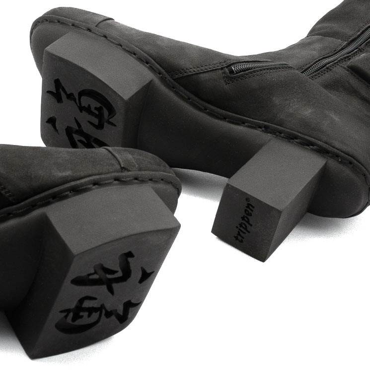 Trippen Bang Happy Damen-Stiefel schwarz