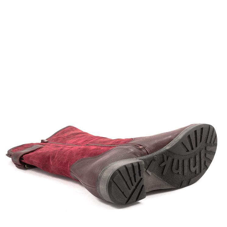 Think 83009 warmer Damen Stiefel dunkelrot