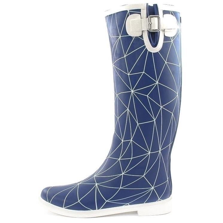 United Nude Rain Boot blau-weiß