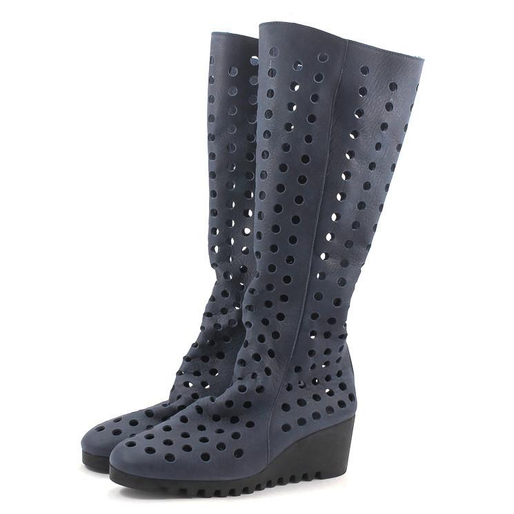 Arche Laroba Damen Sommer-Stiefel dunkelblau