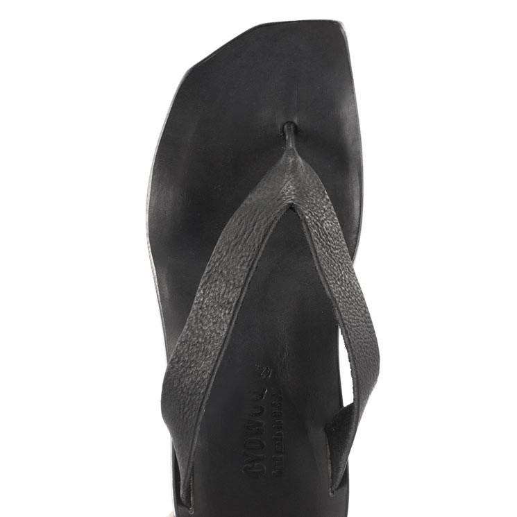 CYDWOQ Flipper Herren Pantolette schwarz