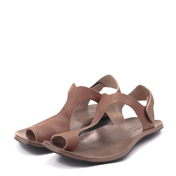 CYDWOQ Reptile Sandale Herren braun