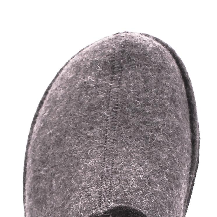 Haflinger Flair Smily Unisex Hausschuh anthrazit
