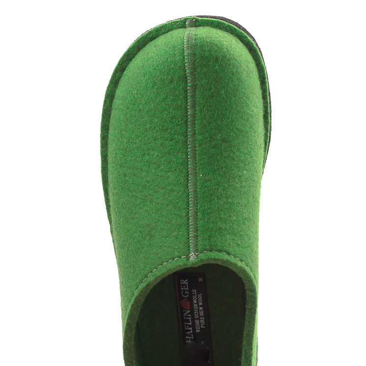 Haflinger Flair Smily Unisex Hausschuh grün