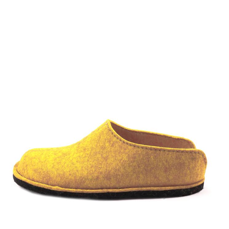 Haflinger Flair Smily Unisex Hausschuh gelb