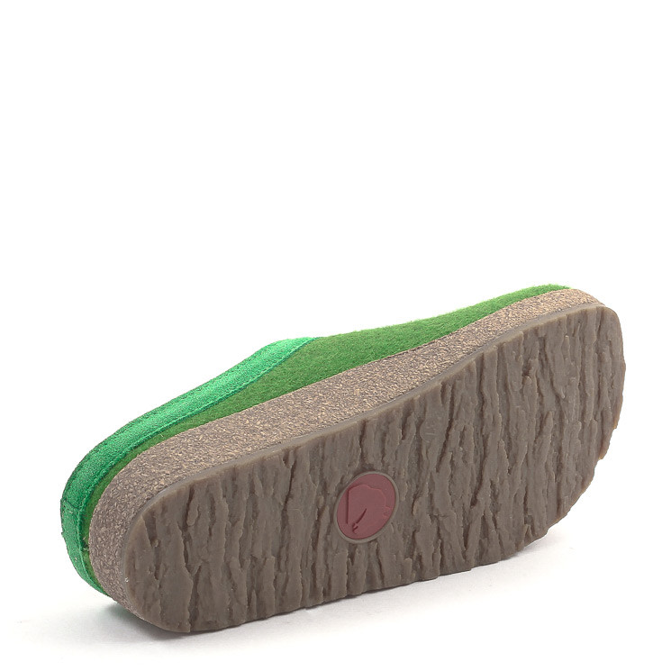 Haflinger Grizzly Torben 713001 Unisex Hausschuh grün