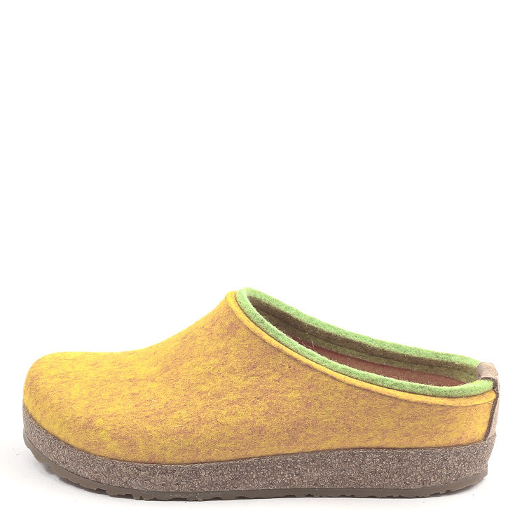 Haflinger Grizzly Kris 711056 Unisex Hausschuh gelb