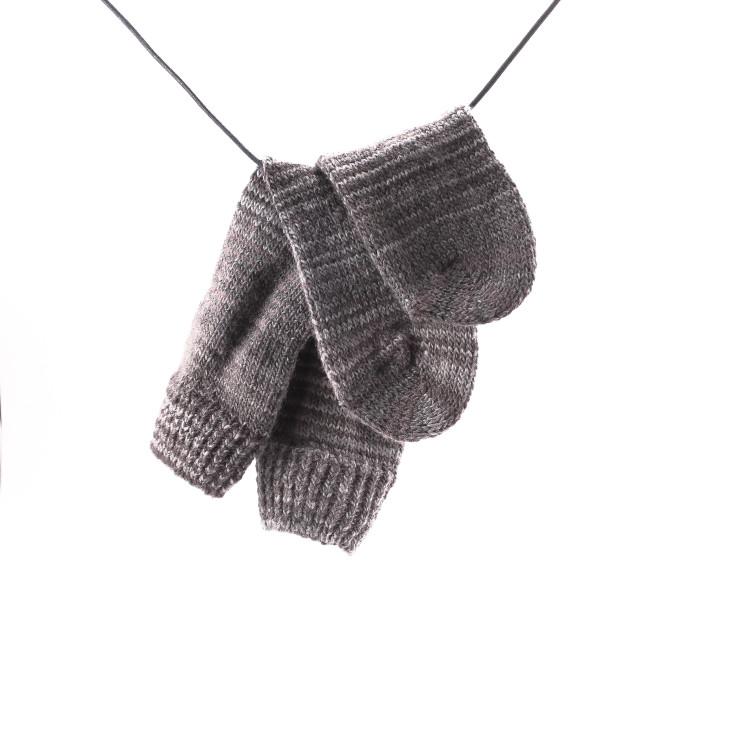 Crönert 15402 Wollsocken Damen Regenbogen grau