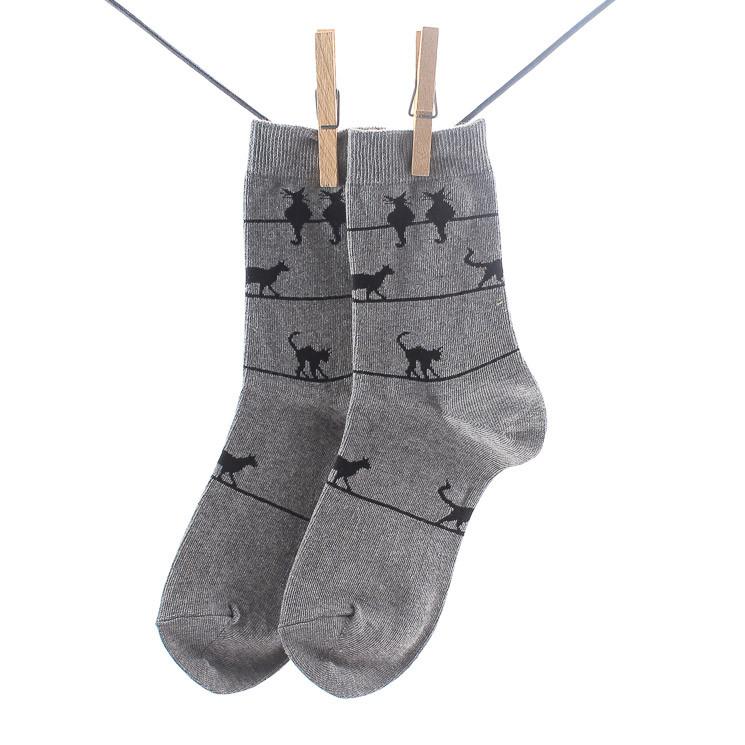 Crönert 16432 Miau Damen Socken grau