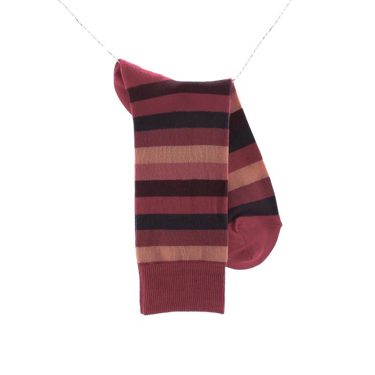 Crönert 26307 Stripes Herrensocke rot