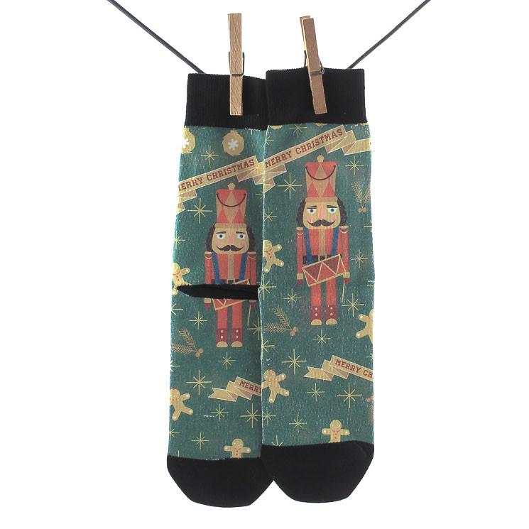 Crönert 2601 X-Mas Herren Socken dunkelgrün