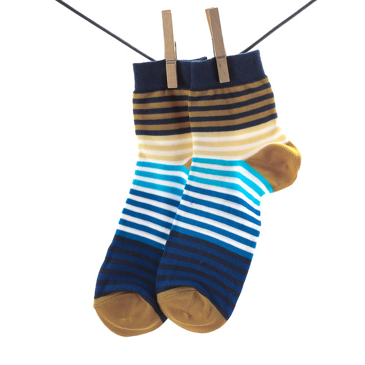 Crönert 26503 Herrensocke Sneaker mit Weichbund blau-weiß