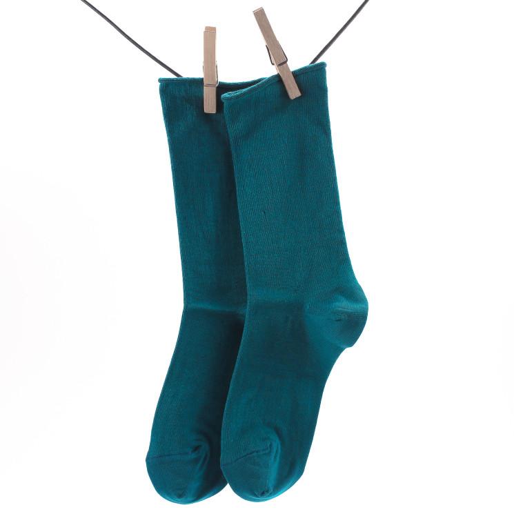 Crönert 18330 Longsocks Unifarben Damen grün