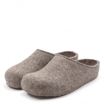 Haflinger Grizzly Michl 711033 Unisex Hausschuh taupe