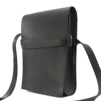 Trippen Bag L A4 Unisex Umhängtasche schwarz