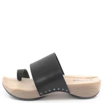 Trippen, Zen f Holz Damen Pantolette, schwarz